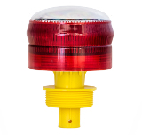 360 Red Solar Flashing Airport Light
