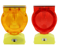 Yellow or Red Solar Barricade Light