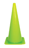 "28"" Fluorescent Green Traffic Cone"