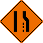 Lane Ends - Right Symbol