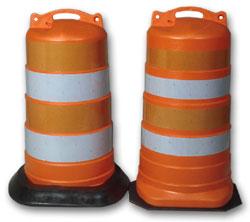 traffic barrels