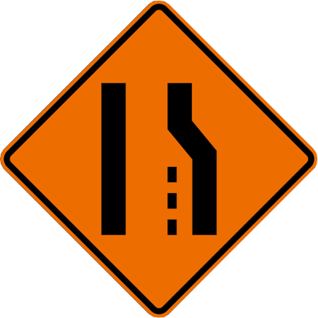 Lane Ends Right Symbol Roll Up Traffic Safety Sign From