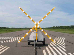 Lighted Runway Closure Marker X For Airports From Trans