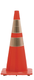 "28"" Traffic Cone w/ Reflective Bands"